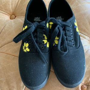 Wild Fable Hand Painted Black Sneakers